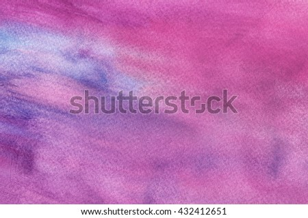 Abstract Multicolor Watercolor Background - stock photo