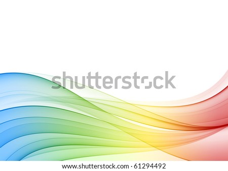 Abstract multicolor wave, background - stock photo