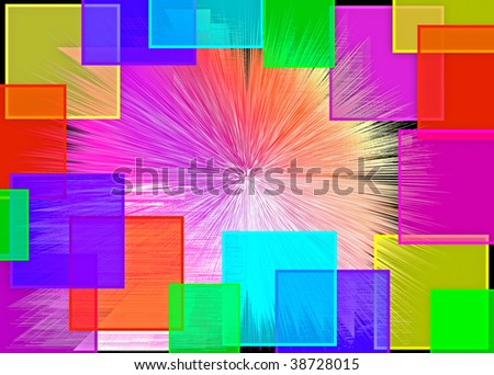 Abstract multicolored background with transparent squares. Welcome! More similar images available. - stock photo
