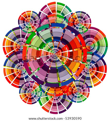 abstract multicolored circle - stock photo