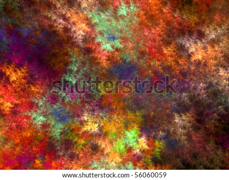 Abstract multicolored fractal background isolated on a black background