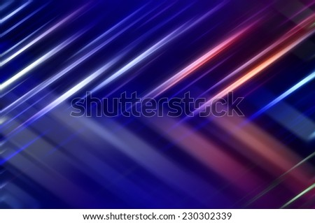 Abstract multicolored fractal background with various neon lines and strips - stock photo