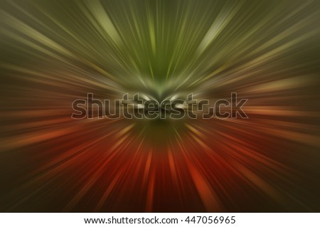 Abstract multicolored fractal composition. Magic explosion star with particles