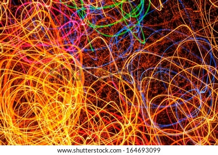 Abstract Multicolored Glowing Shapes as Background - stock photo