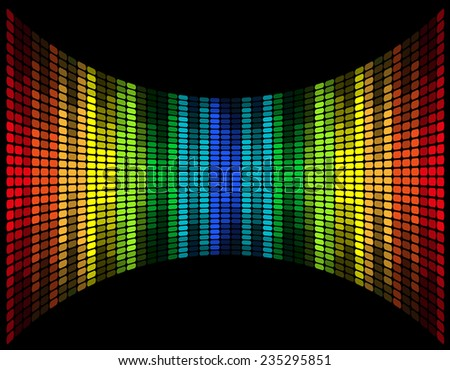 abstract multicolored graphic equalizer illustration isolated on black background