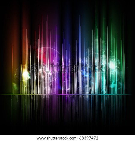 Abstract multicolored lines background - stock photo