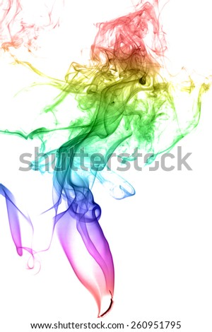 Abstract multicolored smoke on a light background