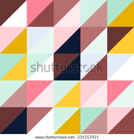 Abstract Multicolored Triangle Background Pattern