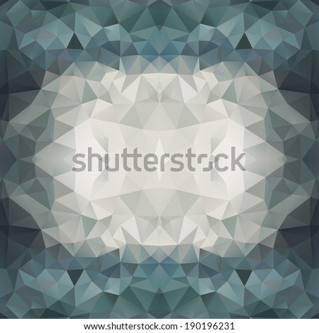 Abstract Multicolored Triangle Background, Raster Version - stock photo