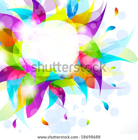 Abstract Multicolours Background for Business Stylish Flyers - stock photo