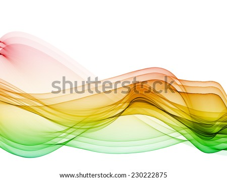 abstract multiple colorful waves on white background