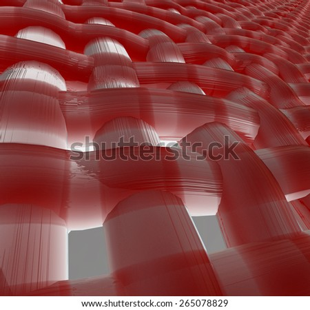 Abstract muscle fiber background and red blood cells. Organic Tissue Texture - stock photo