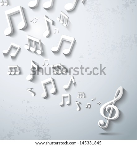 Abstract music background. - stock photo