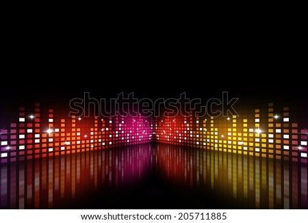 abstract music background for active night parties - stock photo