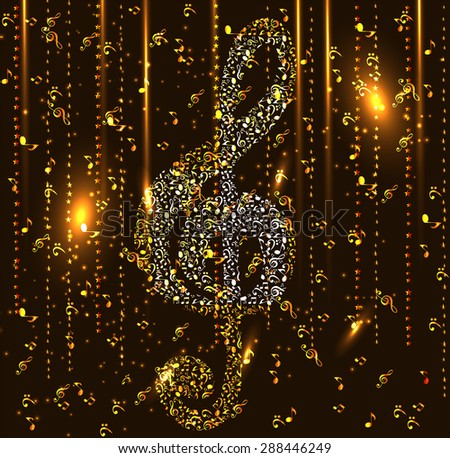 Abstract Music Background.  Illustration for your Design.  - stock photo
