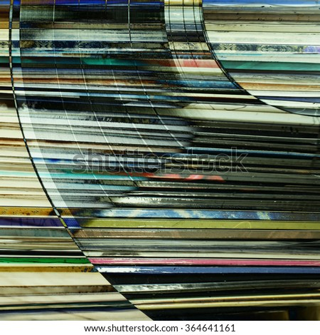 Abstract music background - vinyl on grunge background - stock photo