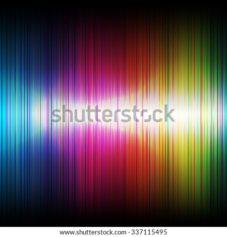 Abstract music rainbow equalizer on black background. Raster version - stock photo