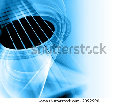 abstract musical background - stock photo