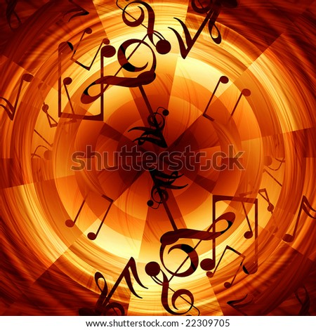Abstract musical background with music notes in it