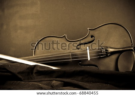 Abstract Musical Instrument Background Image ( Violin ) - stock photo