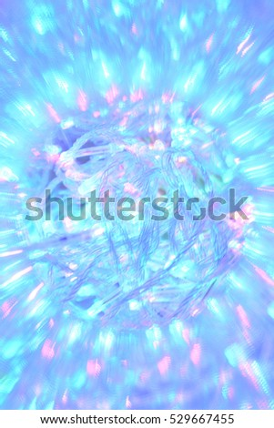 Abstract natural background, Christmas tree decoration, Happy New Year, lights
