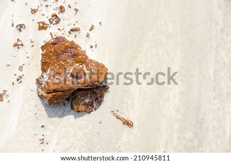 Abstract natural contrasting colors on the ground - stock photo