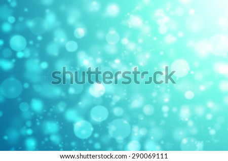 Abstract Natural Glitter Snowflake Sweet Blue Light Bokeh Texture Background - stock photo