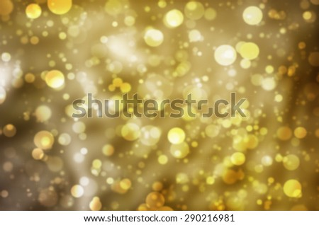 Abstract Natural Glittering Snowflake Glodden Color Pastel Purple Bokeh Texture Background - stock photo
