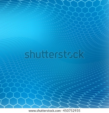 Abstract Natural Honeycomb Blue Color Soft Focus Background.Created as a template  perfect for healthcare, medical and science and various websites, artworks, graphics, cards, banners, ads and  more.  - stock photo