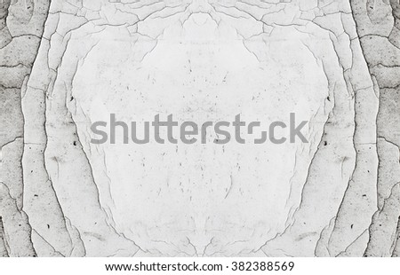 Abstract natural symmetrical scratched white copy space frames - stock photo