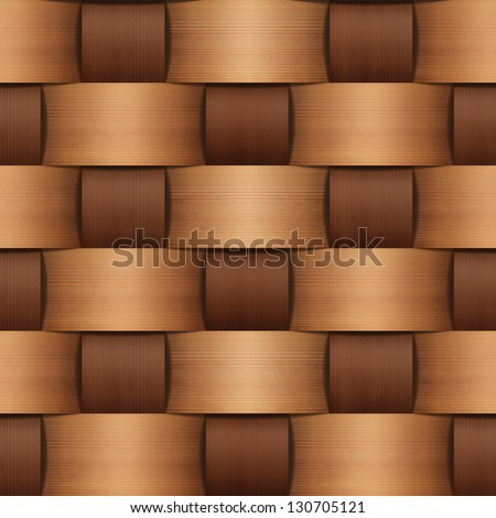 abstract natural wood wicker background. Basket texture - stock photo