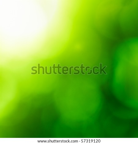 Abstract nature background (green bokeh). - stock photo