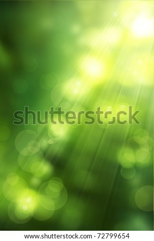 abstract nature background spring greens - stock photo