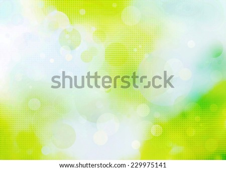 abstract nature background with transparent circles and dots pattern - stock photo