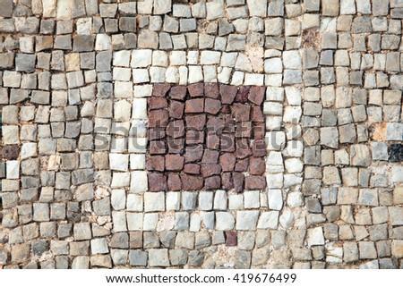 Abstract 2nd Century Roman Mosaic Border