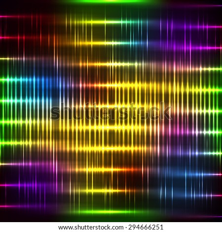 Abstract neon background with shine stripe