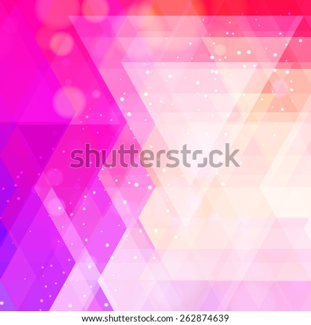 Abstract neon colorful triangle pattern background.   - stock photo