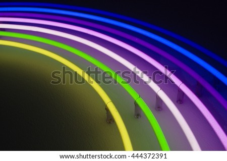 abstract neon light in rainbow colors