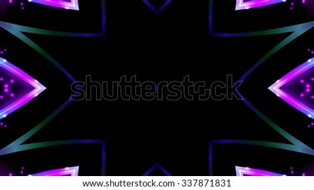 Abstract neon lights symbol background