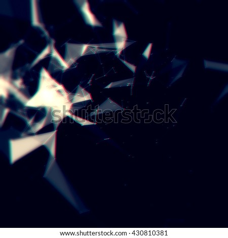 Abstract network connection background - stock photo