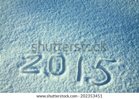 abstract  New Year's and Christmas background from snow - stock photo