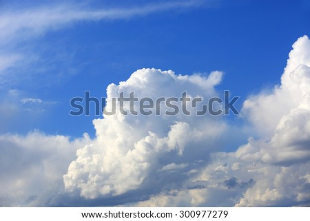 Abstract nice clouds in blue sky - stock photo