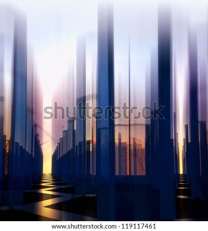 abstract night city background - stock photo