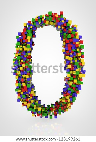 abstract number - stock photo