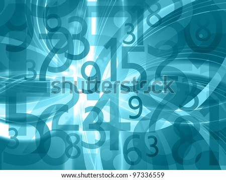 abstract numbers background - stock photo