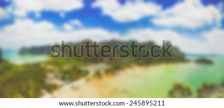 Abstract ocean turns out that the motion blur. - stock photo