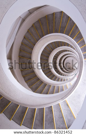 Abstract of a circular stairway