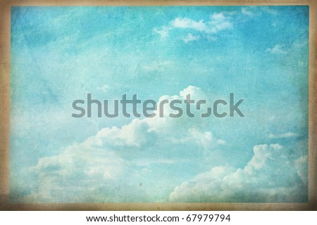 Abstract of a grunged cloudscape photo. - stock photo