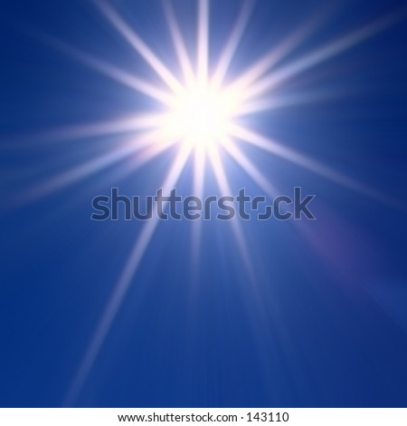 Abstract of a Star - stock photo