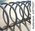 Abstract of bicycle parking - stock photo